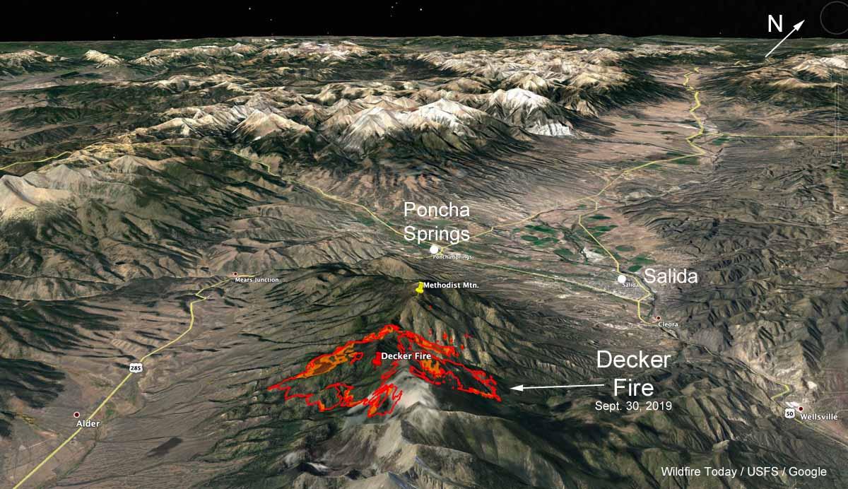 map 3-d decker fire colorado