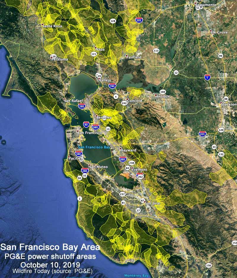 PG&E power shutoffs California