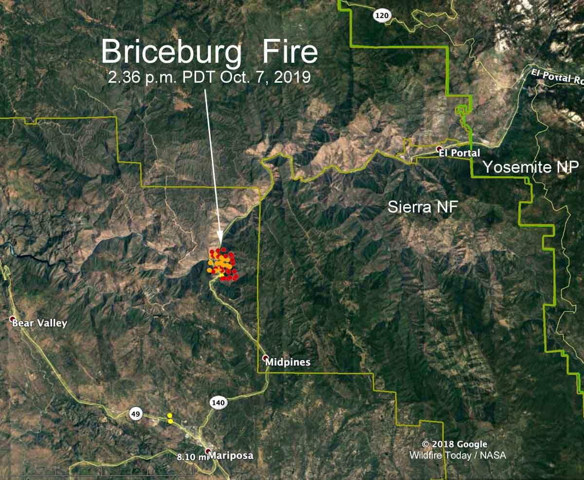 map Briceberg Fire