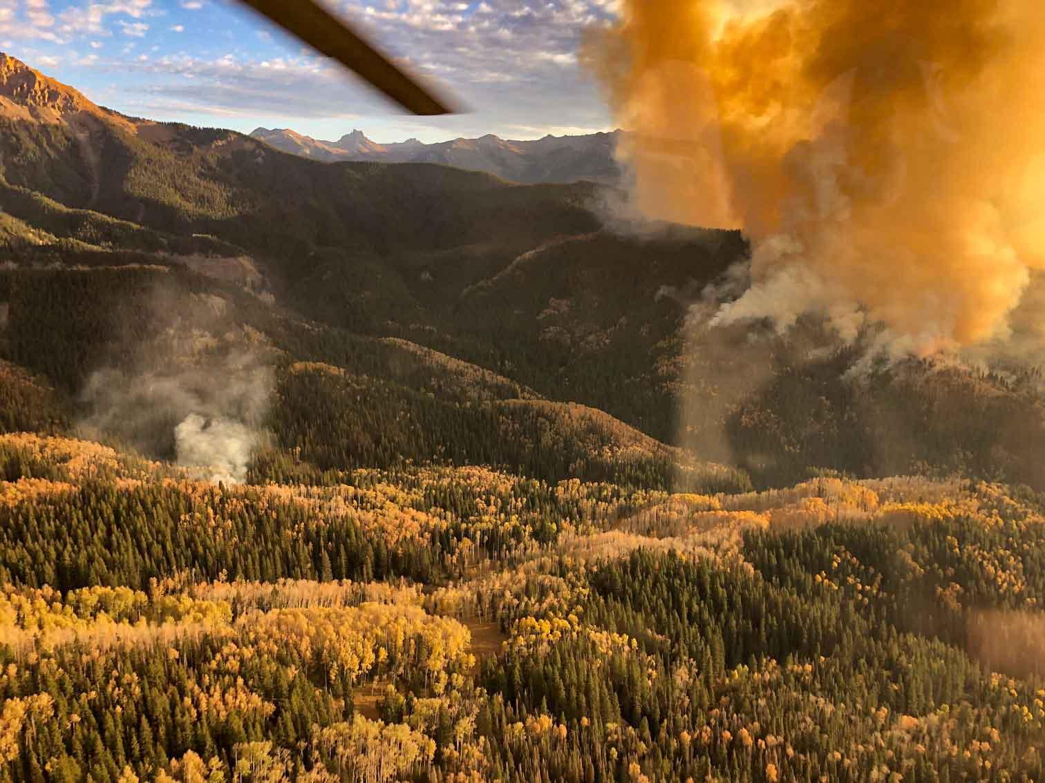 Cow Fire October 17 Ridgway Colorado