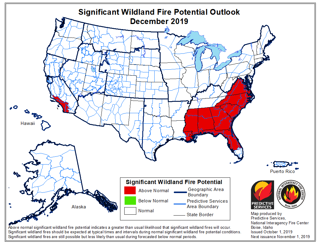 wildfire potential December