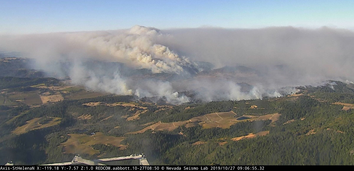 Kincade Fire 9:06 a.m. PDT Oct. 27, 2019