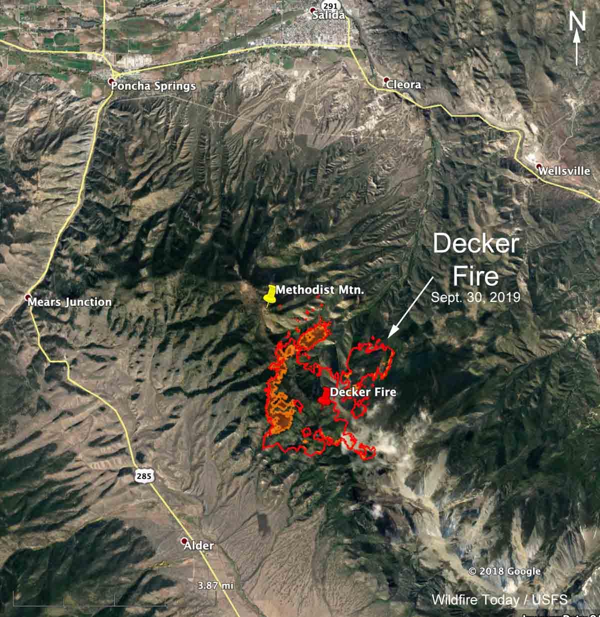 map decker fire colorado