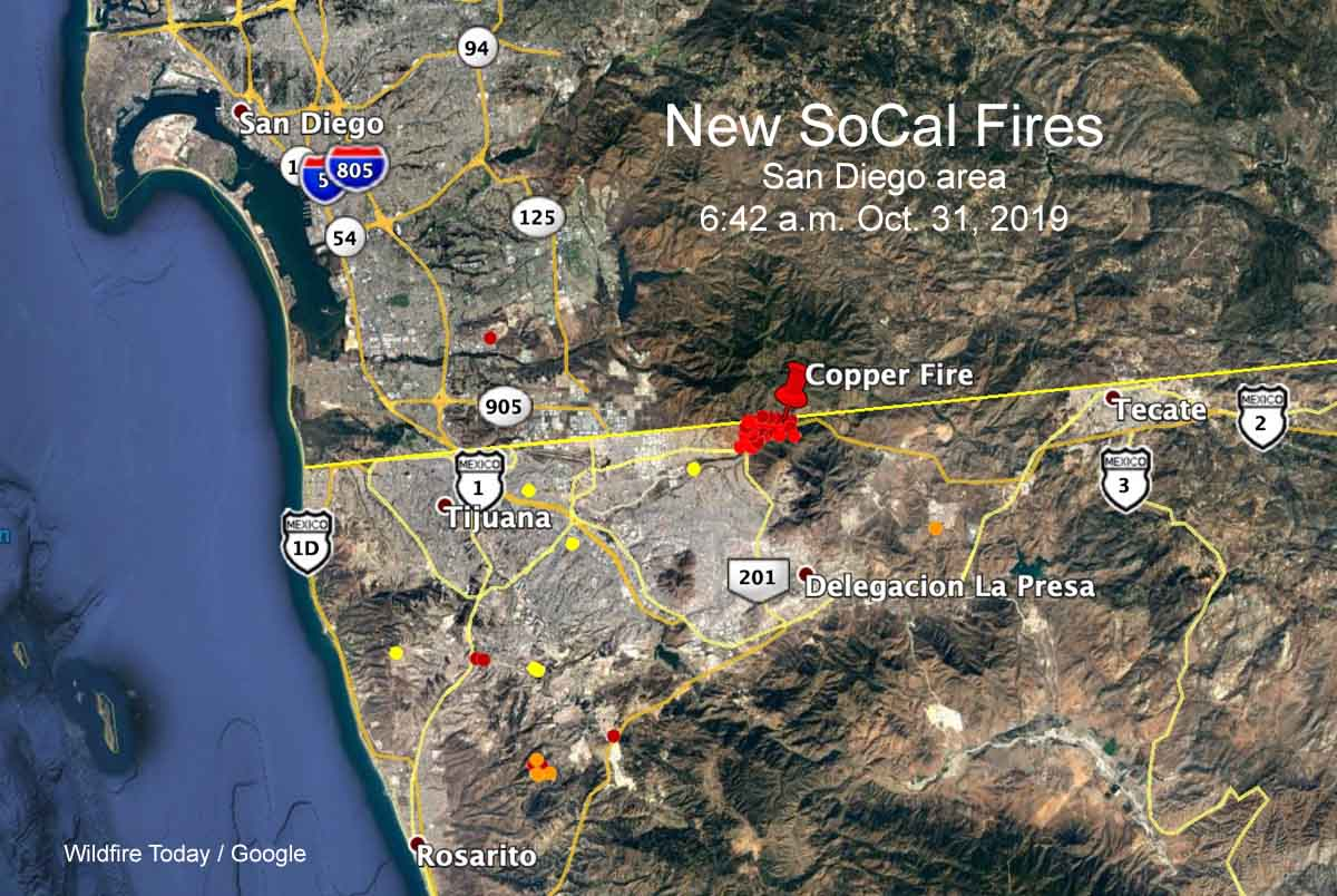 Roundup Of New Southern California Wildfires October 30 31 2019