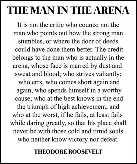 Theodore Roosevelt criticism quote
