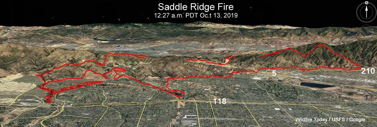 Powerline investigated as possible source of Saddle Ridge Fire