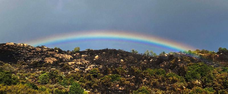 Rainbow Cave Fire