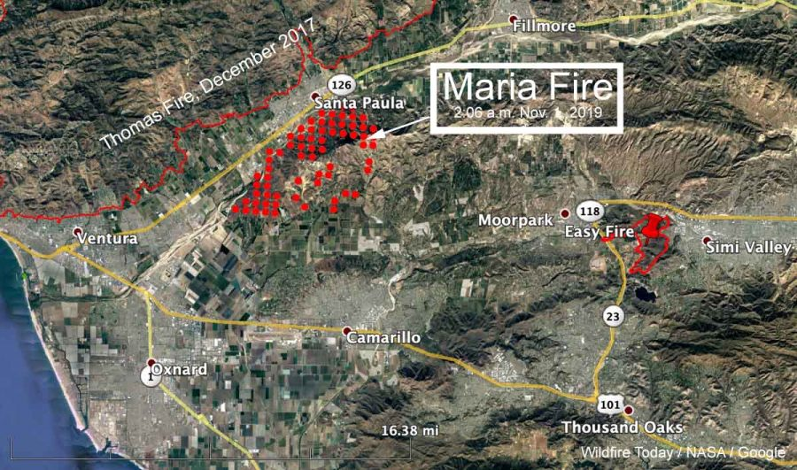 map Maria Fire Ventura County California