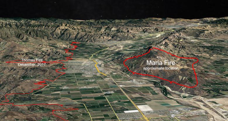 map Maria Fire 3-D