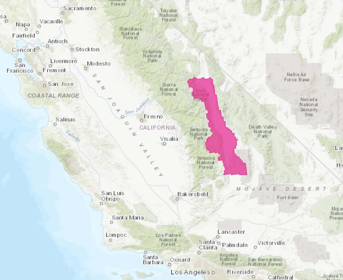 Red Flag Warning Sierras