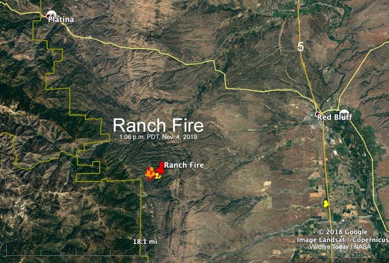 Ranch Fire map