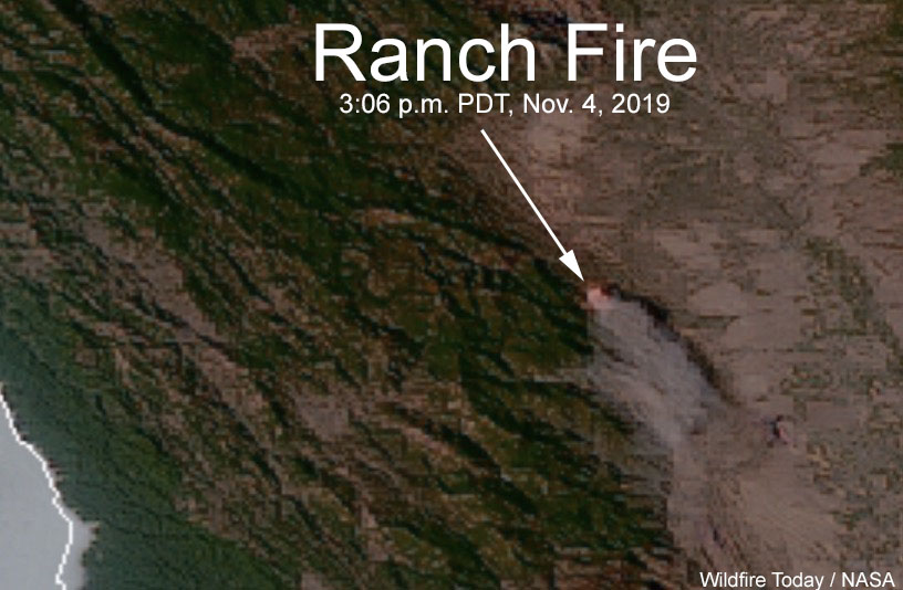 Ranch Fire map satellite photo