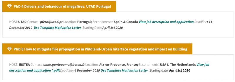 European organization recruiting 15 fire-related PhD ...