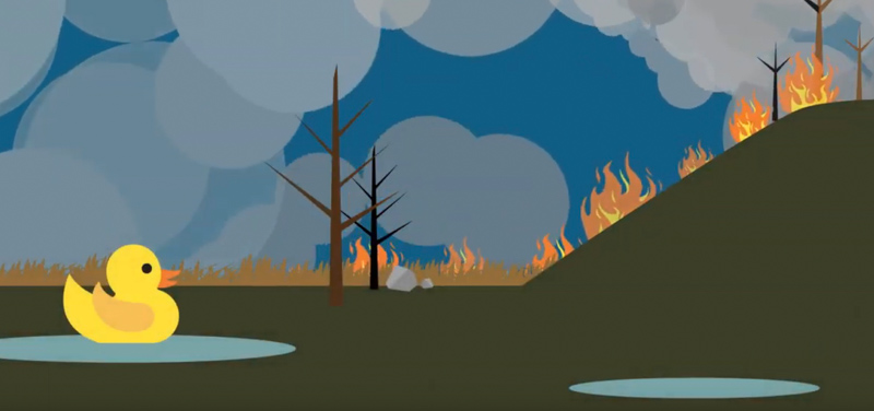 wildfire risk of flooding