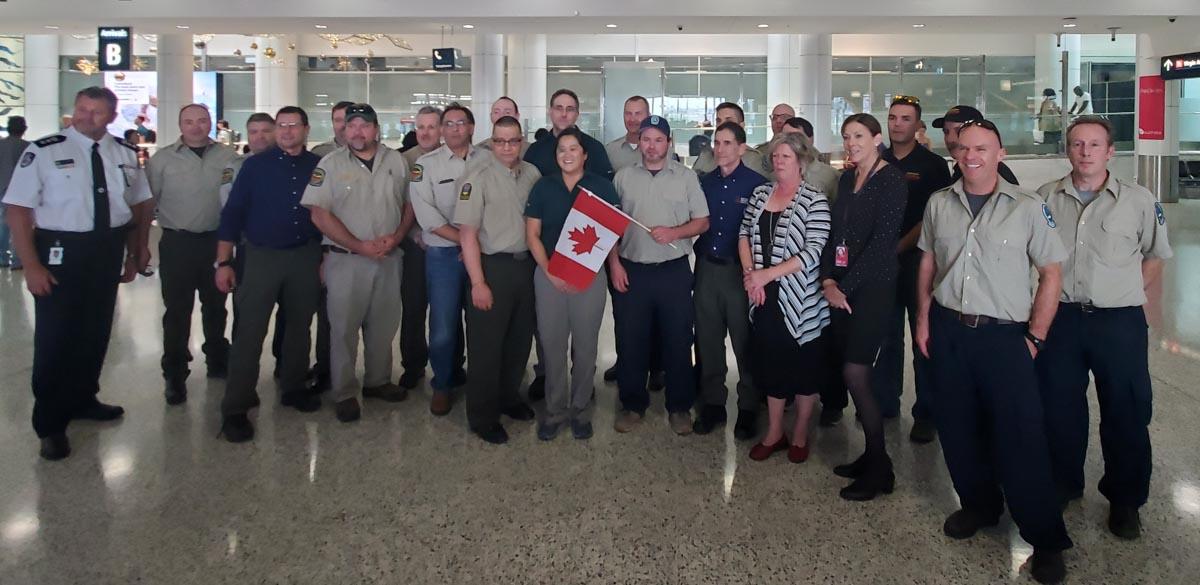 Canadian fire management personnel Australia