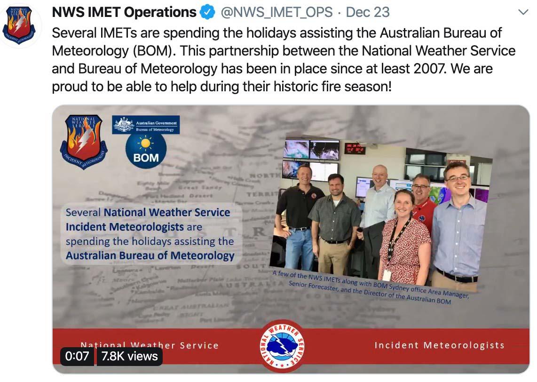 United States Incident Meteorologists in Australia