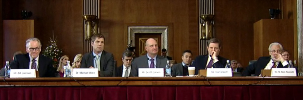 Witnesses at the Congressional hearing December 19, 2019