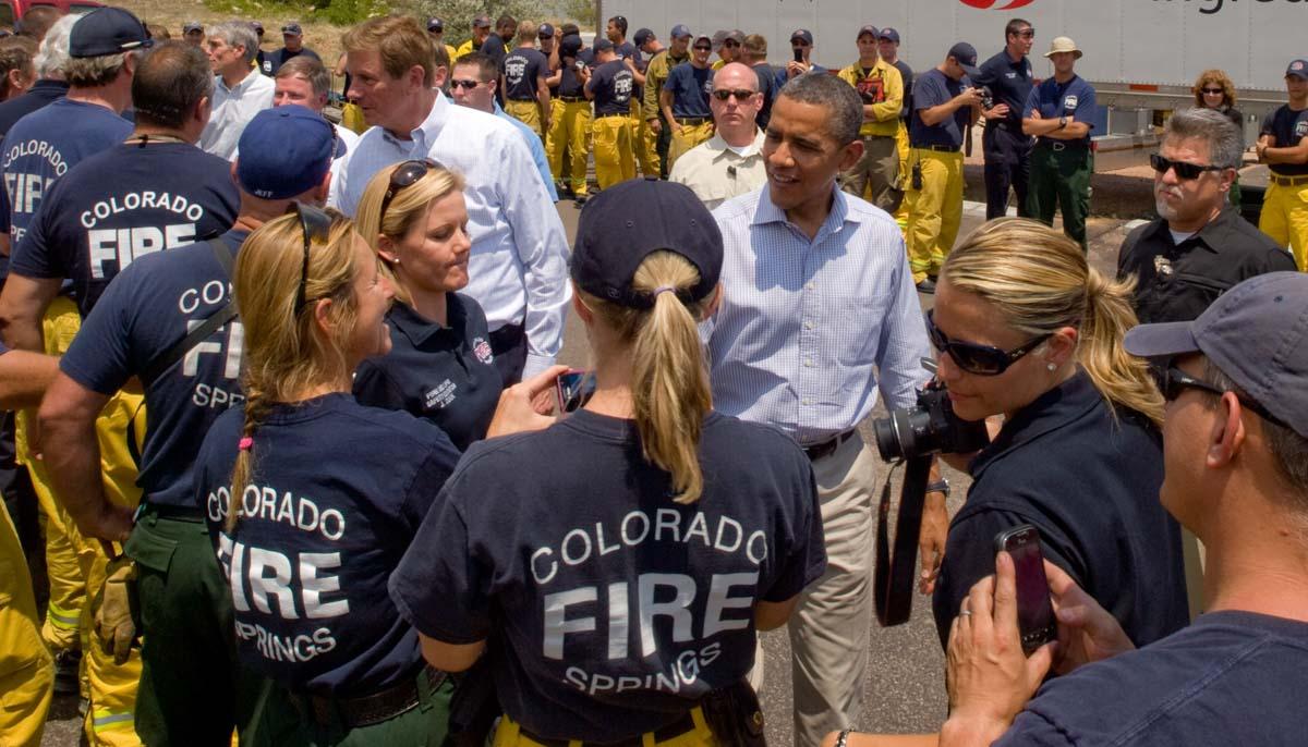 Waldo Canyon Fire President Obama