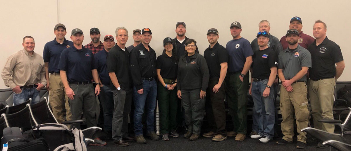 BLM fire employees en route Australia