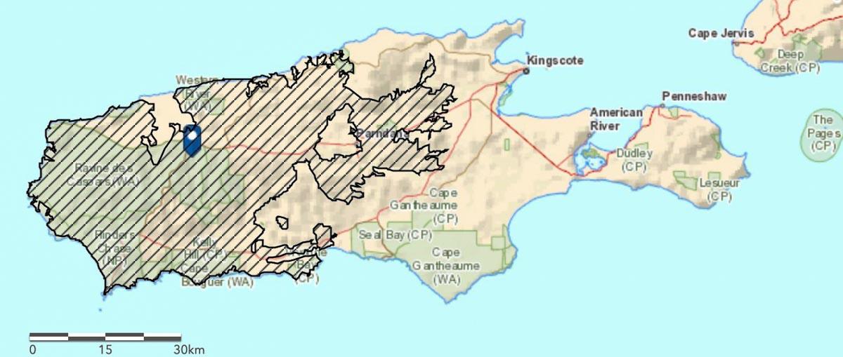 Map Ravine Fire Kangaroo Island