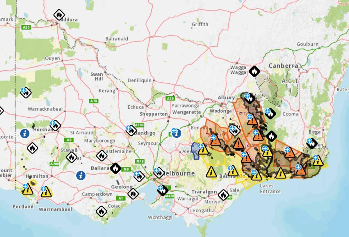 fire map Victoria