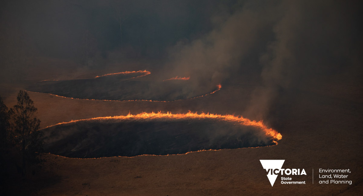 One of the fires in the East Gippsland region of Victoria, December 30, 2019. Photo by Ned Dawson for Victoria State Government.