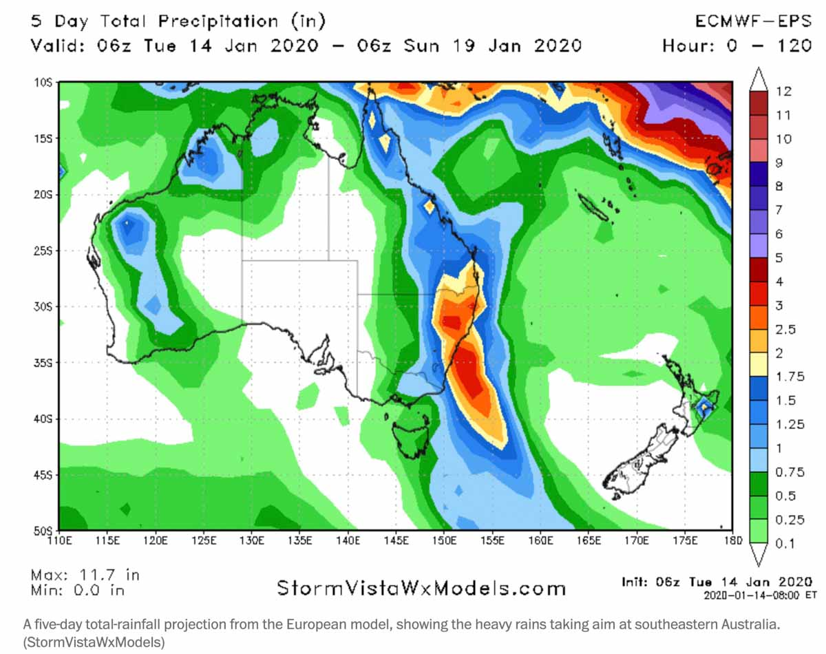 predicted rain australia january 15 2020