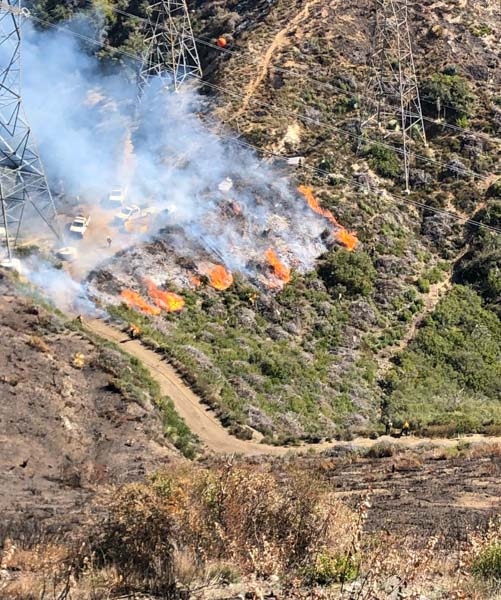 Prescribed fire fuel break Angeles National Forest