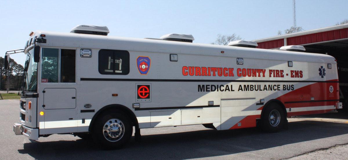 Medical ambulance bus