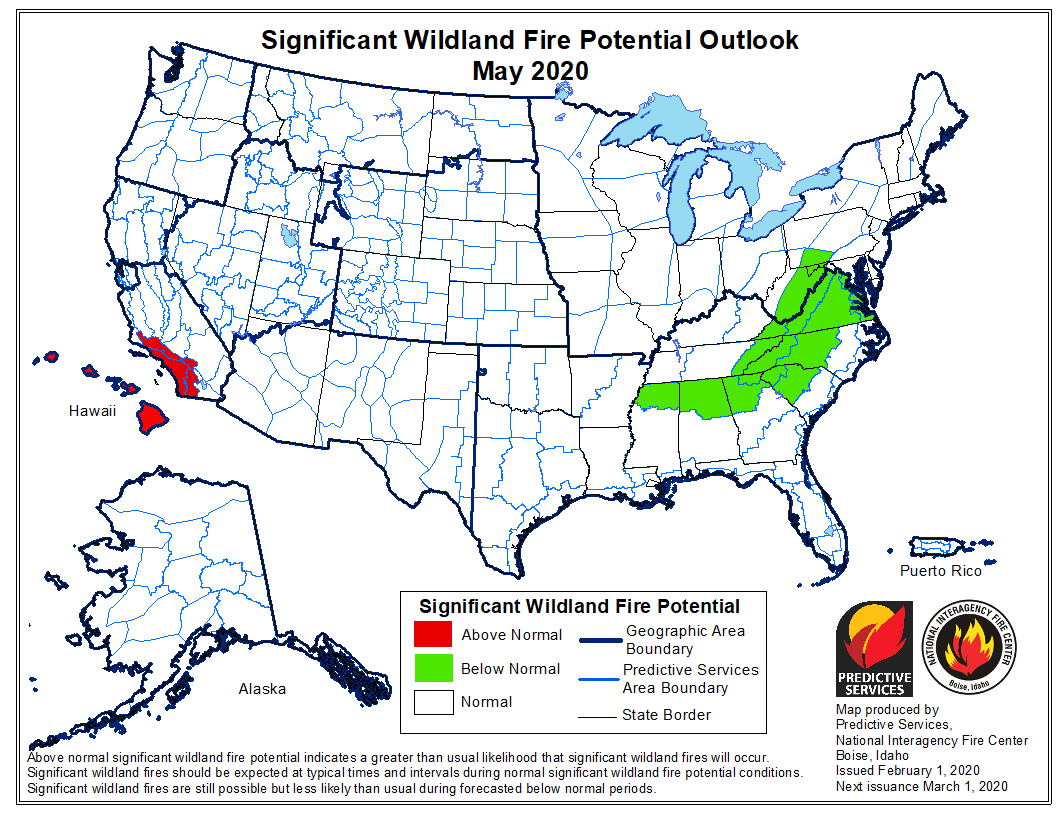 May wildfire potential