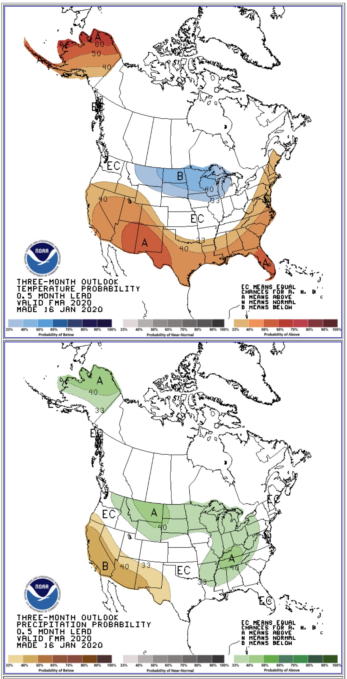 temperature and precipitation 90 day outlook
