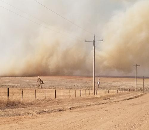 Oklahoma 412 fire wildfire Beaver smoke