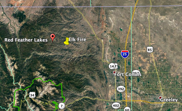 Elk Fire Map