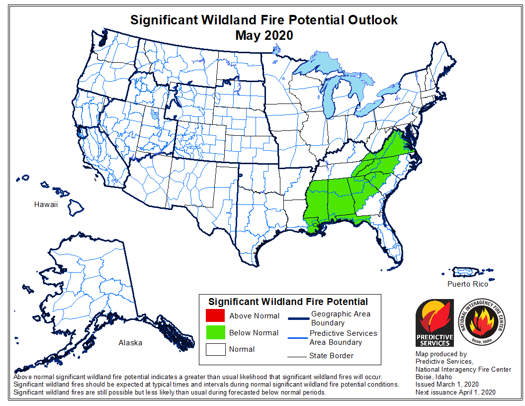 May wildfire outlook