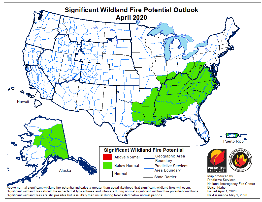 Wildfire potential weather July