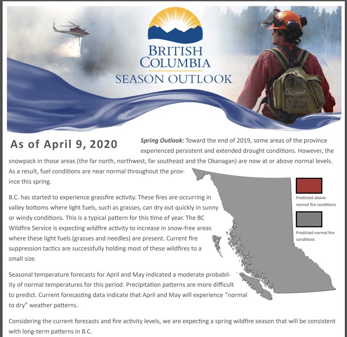 BC Spring Wildfire Outlook