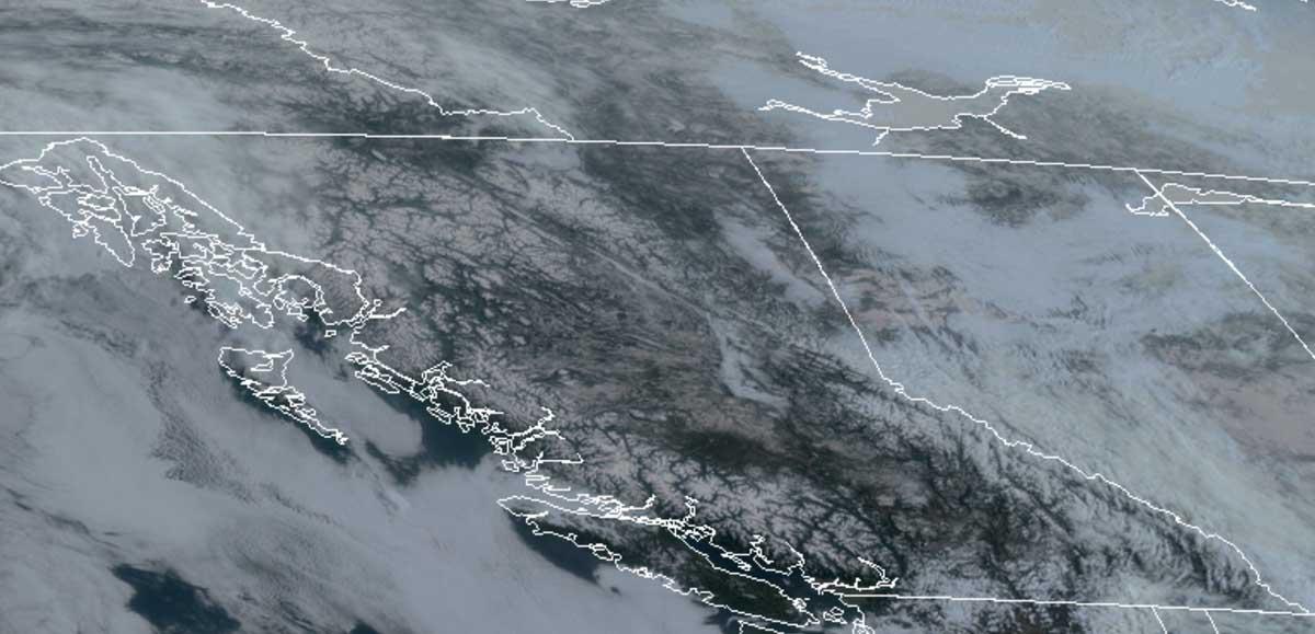 Satellite photo British Columbia April 15, 2020