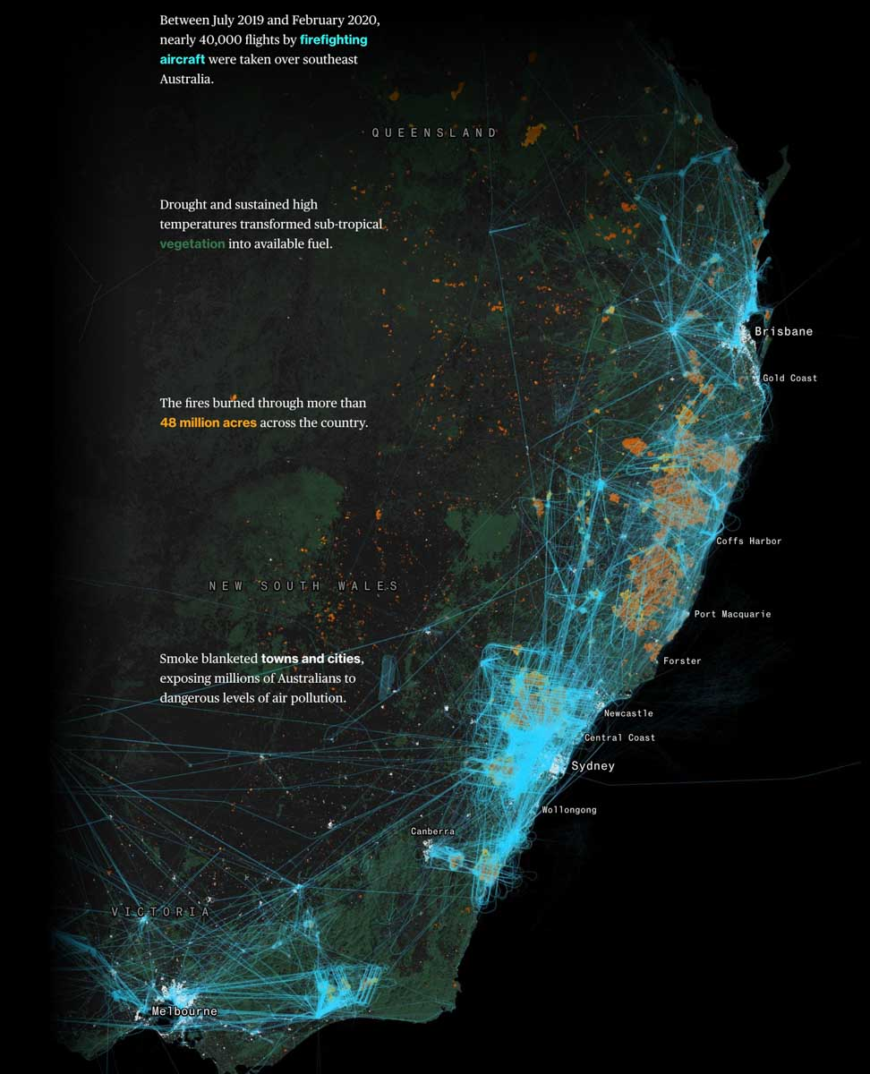 Bloomberg graphic wildfires bushfires australia fire aviation