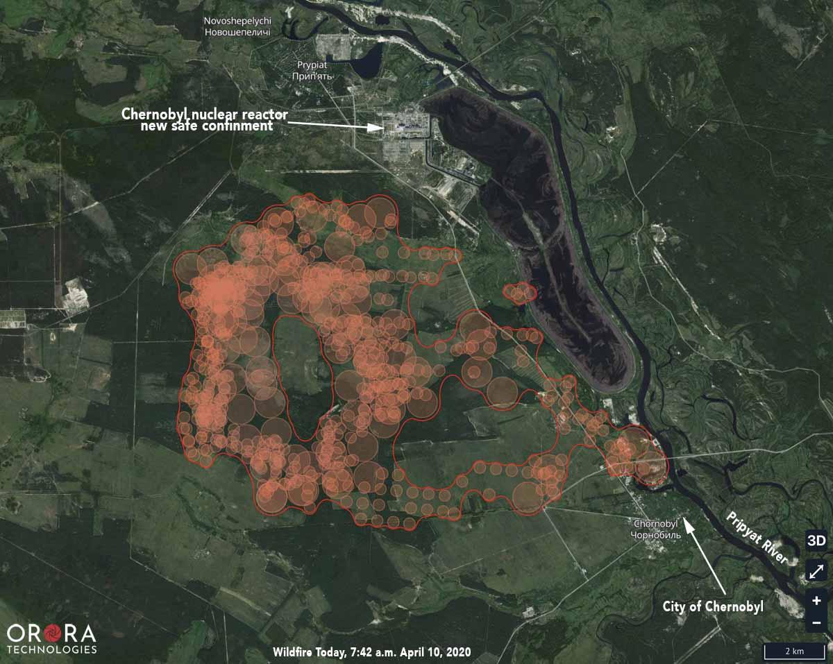Chernobyl Fire Map