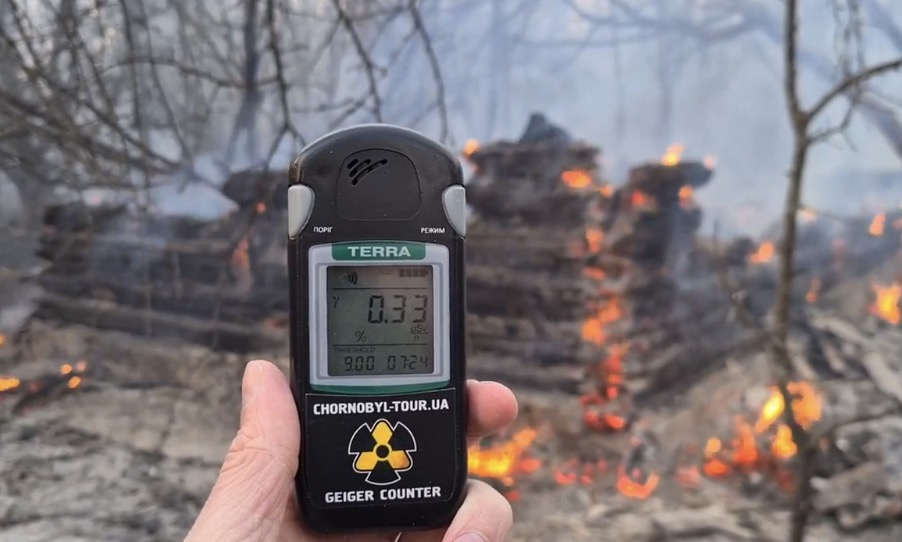 Wildfire burning Chernobyl exclusion zone