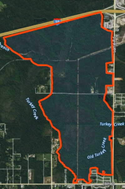 Wildfire Harrison County Mississippi map