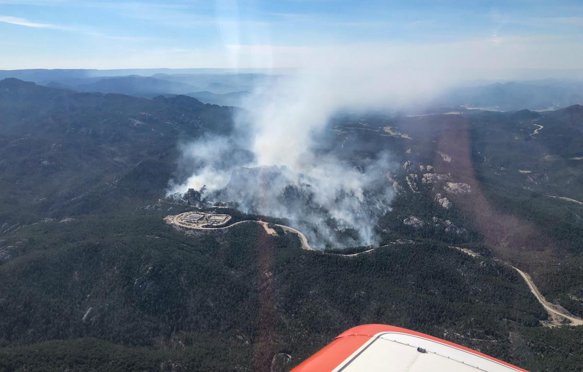 Mount Rushmore prescribed fire April 30 2020