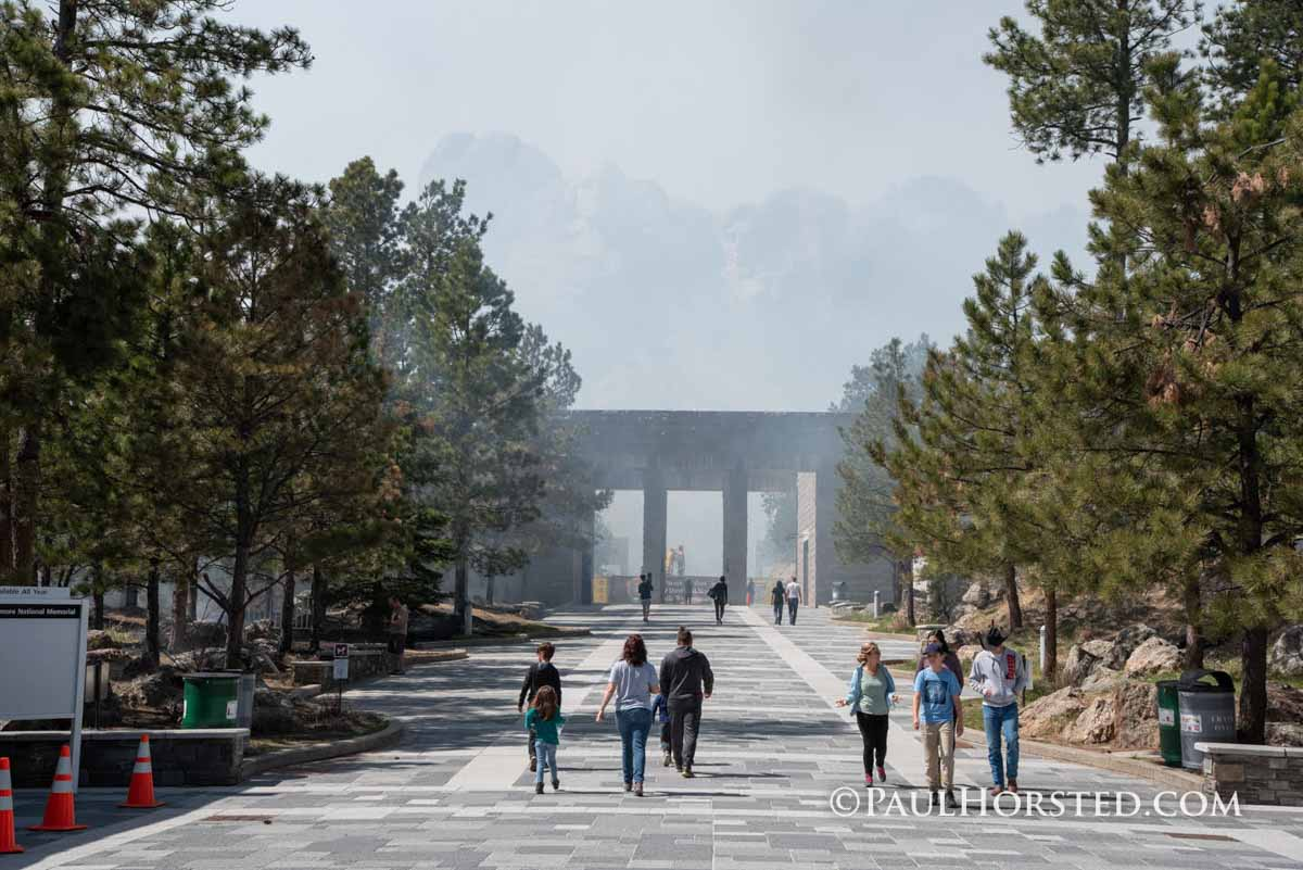 Prescribed fire at Mount Rushmore National Memorial