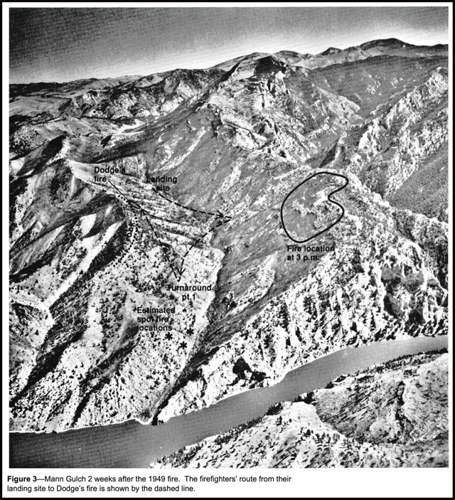 Mann Gulch aerial photo