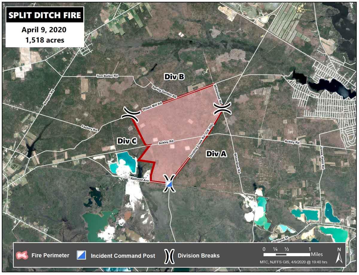 Map Split Ditch Fire