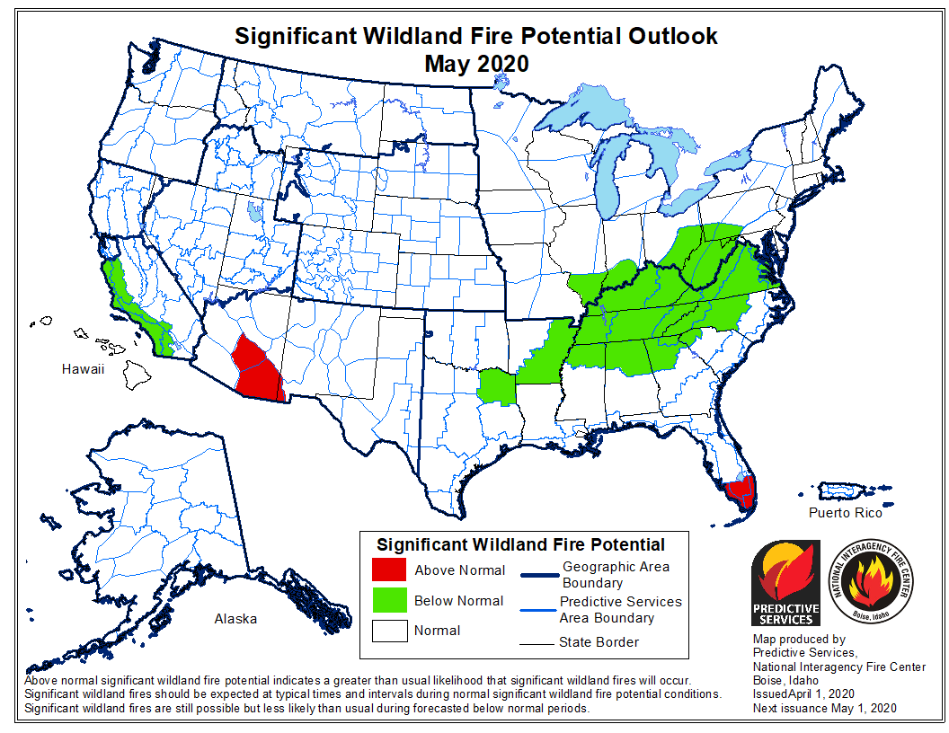 Wildfire potential weather May