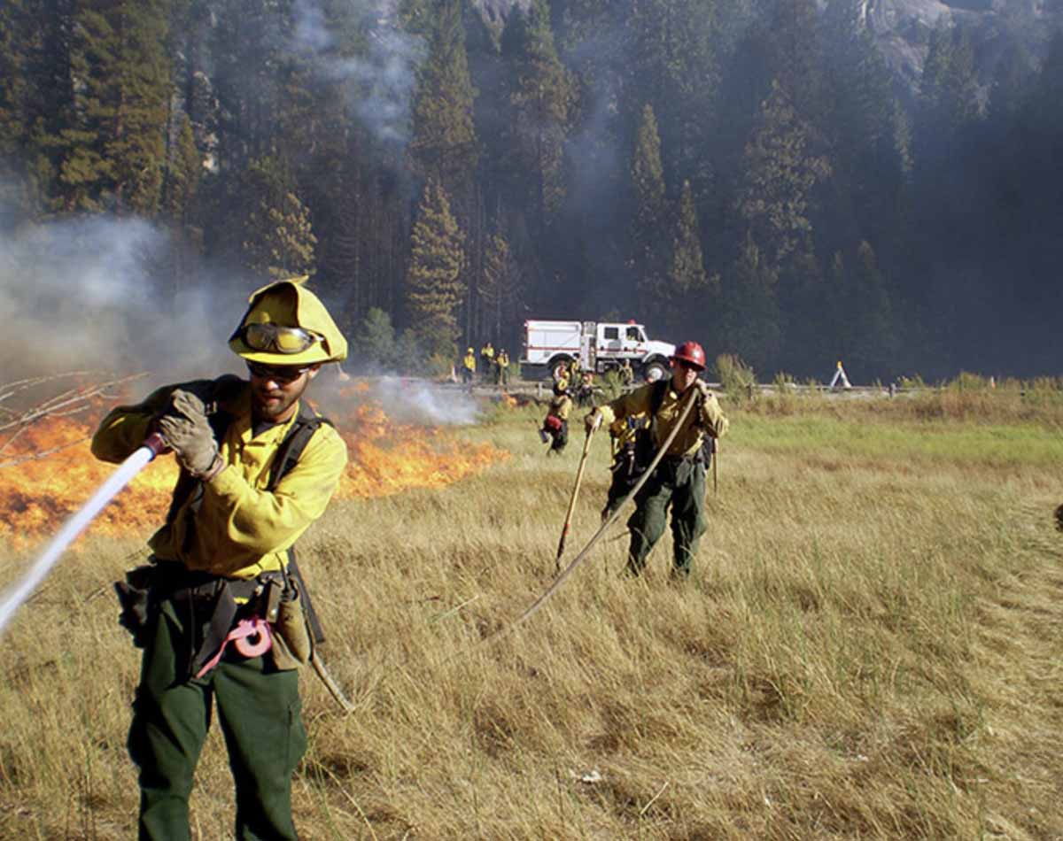 National Park Service fire wildfire firefighters
