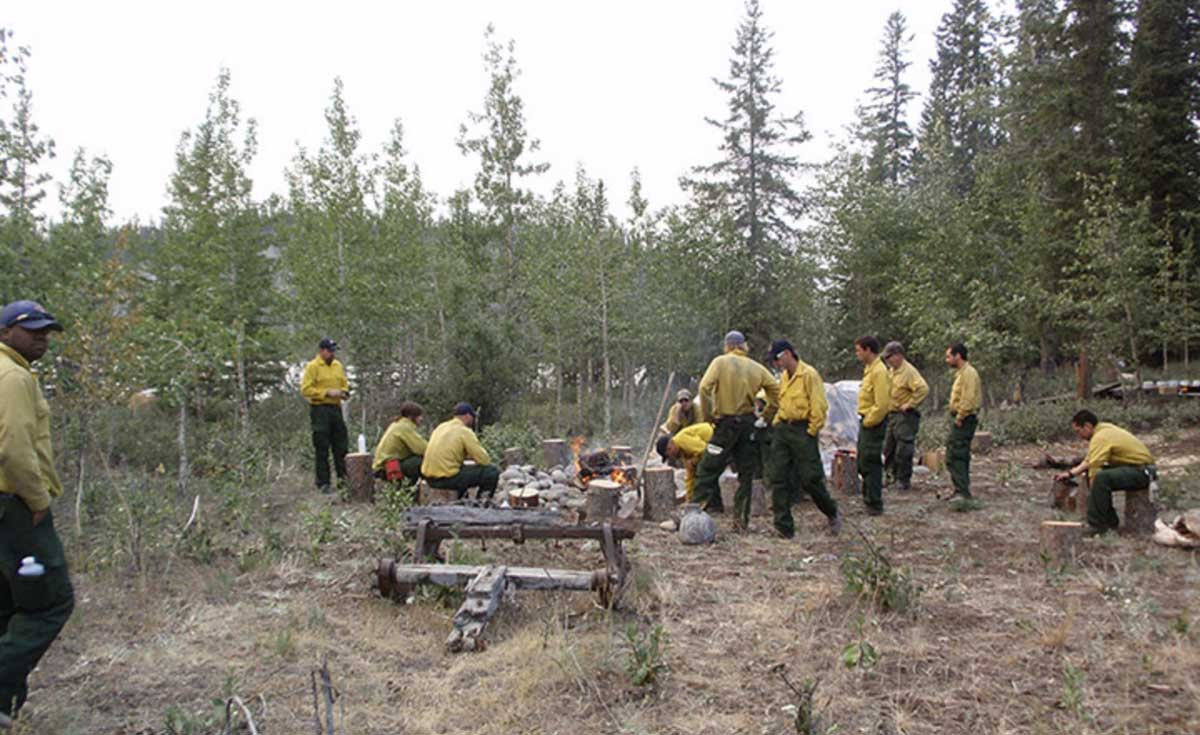 Firefighters spike camp