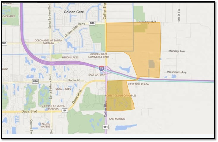 map wildfires Naples Florida