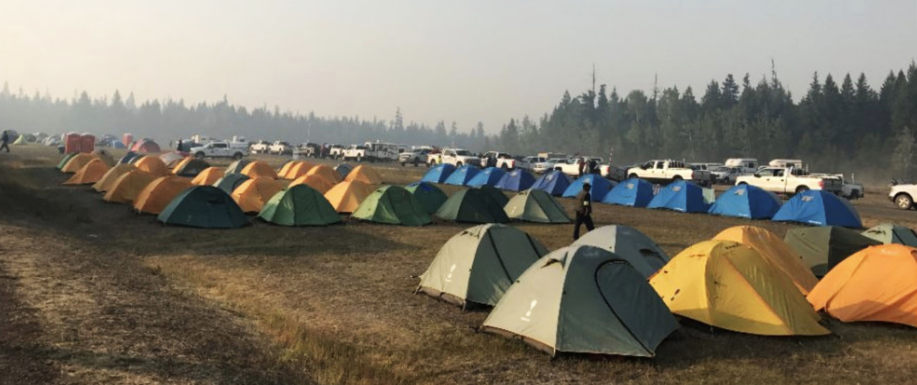 fire camp in Alberta